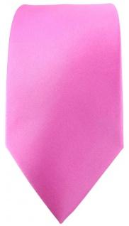 Designer Satin Krawatte pink rosa Uni - 100 % Seide - Vorschau 2