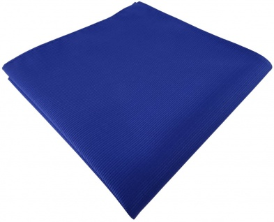 TigerTie Designer Einstecktuch in royal blau einfarbig uni Rips