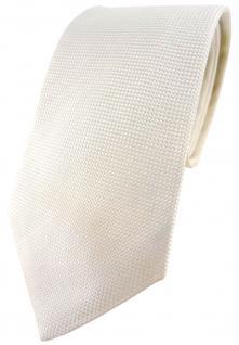 Blick. elementum Seidenkrawatte cremeweiss Punktstruktur - Krawatte 100% Seide