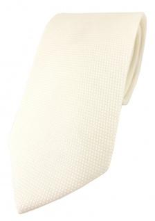 TigerTie Designer Krawatte Pique in creme gemustert - 100% Baumwolle - Vorschau 1