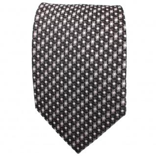 TigerTie Krawatte anthrazit grau silber schwarz gemustert mit Punkten - Binder - Vorschau 2