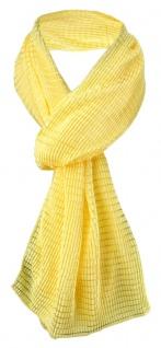 Damen Satin Schal Halstuch gelb leuchtgelb gemustert Gr. 155 cm x 55 cm - Tuch
