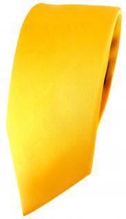 schmale feine Designer Seidenkrawatte Satin gelb - Tie Krawatte 100% Seide Silk - Vorschau 1