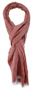 TigerTie Designer Schal in rose weiss unicolor - Gr. 180 x 70 cm