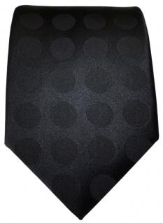 TigerTie Designer Seidenkrawatte in schwarz einfarbig gepunktet - Vorschau 2