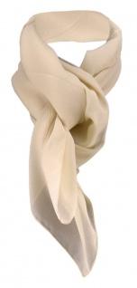 TigerTie Damen Chiffon Halstuch beige sandfarben Uni Gr. 90 cm x 90 cm - Schal