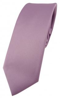 schmale TigerTie Designer Krawatte in flieder einfarbig Uni - Tie Schlips