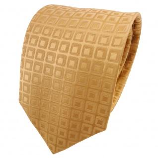 TigerTie Satin Seidenkrawatte gold hellgold gemustert - Krawatte Seide Binder