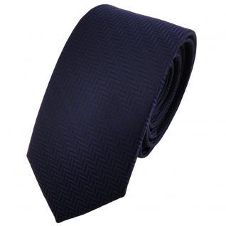 Schmale TigerTie Krawatte dunkelblau royal gestreift - Binder Tie Schlips