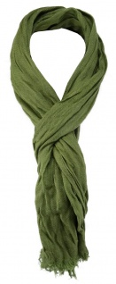 TigerTie Designer Schal in grün einfarbig - Gr. 180 x 50 cm - Vorschau