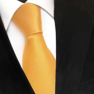 TigerTie Designer Seidenkrawatte gelb sonnengelb Uni - Krawatte Seide Silk Tie - Vorschau 3