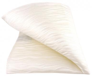 Seideneinstecktuch in creme beige perlmutt gestreift - Einstecktuch Gr. 25x25 cm - Vorschau 2