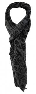 TigerTie Schal in anthrazit schwarz gemustert - 190 x 50 cm - 100% Wolle