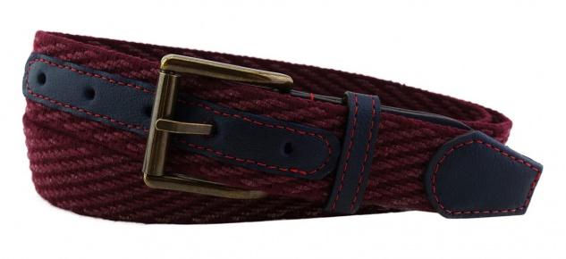TigerTie - Stretchgürtel in rot bordeaux einfarbig - Bundweite 100 cm