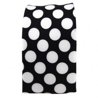 schöne Damenkrawatte in Satin schwarz weiss-silber gepunktet, Größe 125 x 5, 5 cm - Vorschau 3