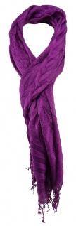 TigerTie Schal in lila einfarbig gemustert - Gr. 200 x 80 cm