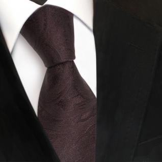 Designer Seidenkrawatte braun dunkelbraun paisley - Krawatte Seide Tie - Vorschau 3