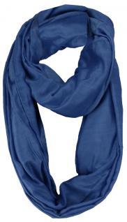 Loop Schal Halstuch in blau royal einfarbig - Größe 180 x 100 cm - Schlauchschal