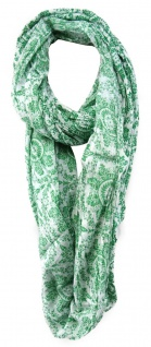 TigerTie Designer Loop Schal in grün grau gemustert