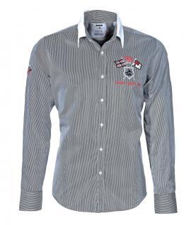 Pontto Designer Hemd Shirt in schwarz weiß gestreift langarm Modern-Fit Gr.3XL