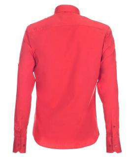 Pontto Designer Hemd Shirt in rot knallrot einfarbig langarm Modern-Fit Gr. XXL - Vorschau 2