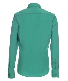 Pontto Designer Hemd Shirt in grün einfarbig langarm Modern-Fit Gr.S - Vorschau 2