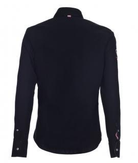 Pontto Designer Hemd Shirt in schwarz einfarbig langarm Modern-Fit Gr. M - Vorschau 2