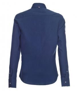Pontto Designer Hemd Shirt in blau dunkelblau einfarbig langarm Modern-Fit Gr.S - Vorschau 2