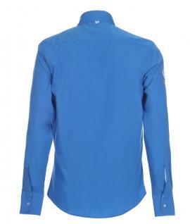 Pontto Designer Hemd Shirt in blau himmelblau einfarbig langarm Modern-Fit Gr.S - Vorschau 2