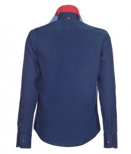 Pontto Designer Hemd Shirt in blau marine einfarbig langarm Modern-Fit Gr. 4XL - Vorschau 2