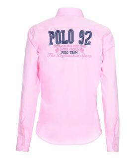 Pontto Designer Hemd Shirt in rosa pink blau weiß langarm Modern-Fit Gr. M - Vorschau 2