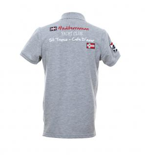 save off bd6ff 56384 Pontto Herren Designer Polo Hemd Shirt grau kurzarm Gr. M - Polohemd  Poloshirt