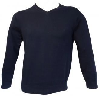 Ben Green Pullover V-Ausschnit marine dunkelblau Premium Cotton Langarm GR. XL - Vorschau 2