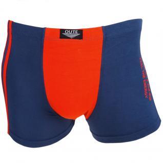 Boxershorts Retro Shorts Unterwäsche Unterhose Pants blau-orange Baumwolle Gr. M