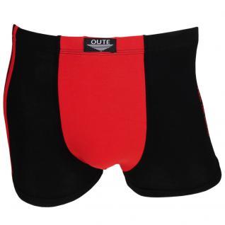 Boxershorts Retro Shorts Unterwäsche Unterhose Pants schwarz-rot Baumwolle Gr. M