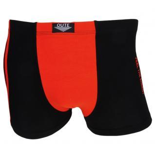 Boxershorts Retro Shorts Unterhose Pants schwarz-orange Baumwolle Gr. M
