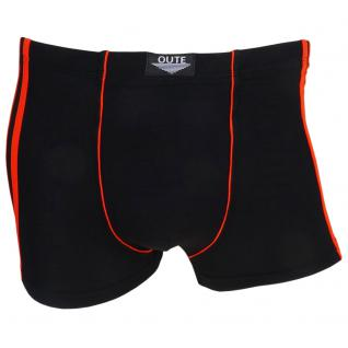 Boxershorts Pants Retro Shorts Unterhose schwarz-orange Baumwolle Gr. L