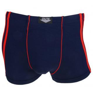 Boxershorts Pants Retro Shorts Unterhose dunkelblau-rot Baumwolle Gr. M