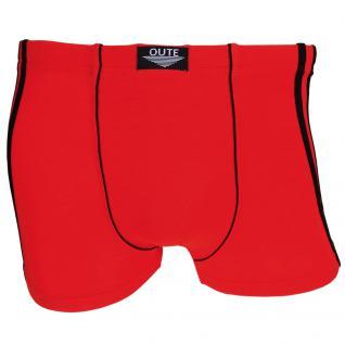 Boxershorts Pants Retro Shorts Unterhose rot schwarz Baumwolle Gr. L