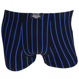 Boxershorts Unterhose Pants Retro Shorts schwarz-blau Baumwolle Gr. M