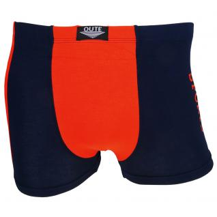 Shorts Boxershorts Unterhose Retro Pants dunkelblau-orange Baumwolle Gr. L