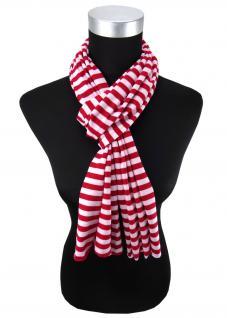 Damen Schal in rot rosa gestreift Gr. 172 cm x 27 cm - Halstuch Tuch