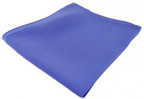 feines Seideneinstecktuch in blau Uni - Einstecktuch 100% pure Seide