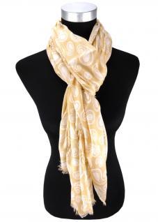 edler Schal in beige weissgrau Paisley gemustert - Schalgröße 180 x 100 cm - Vorschau