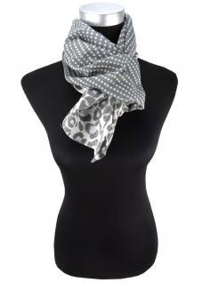 Halstuch in anthrazit grau gemustert und gepunktet - Tuch Größe 100 x 100 cm