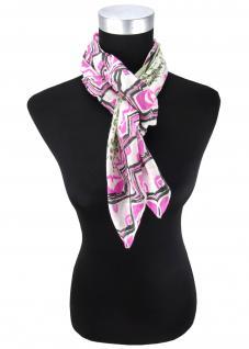 Halstuch in grün olive schwarz pink grau gemustert - Tuch Größe 95 x 95 cm