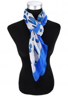 Halstuch in blau schwarz grau gemustert - Schalgröße 100 x 100 cm