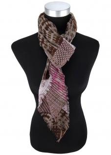 Desiger Halstuch in pink braun grau gemustert - Schalsgröße 110 x 110 cm
