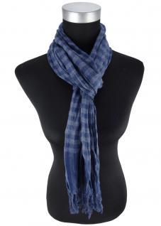 Schal blau dunkelblau marine kariert gemustert - Schalgröße 180 x 40 cm