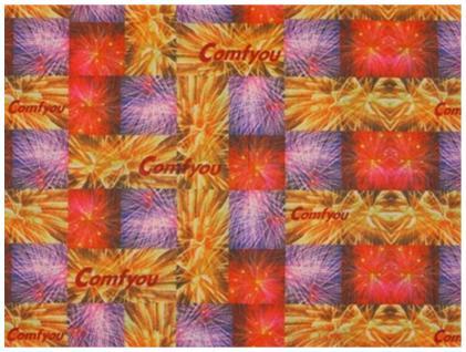 Multifunktionstuch rot orange lila karos - Tuch -Schal -Schlauchtuch -Wundertuch